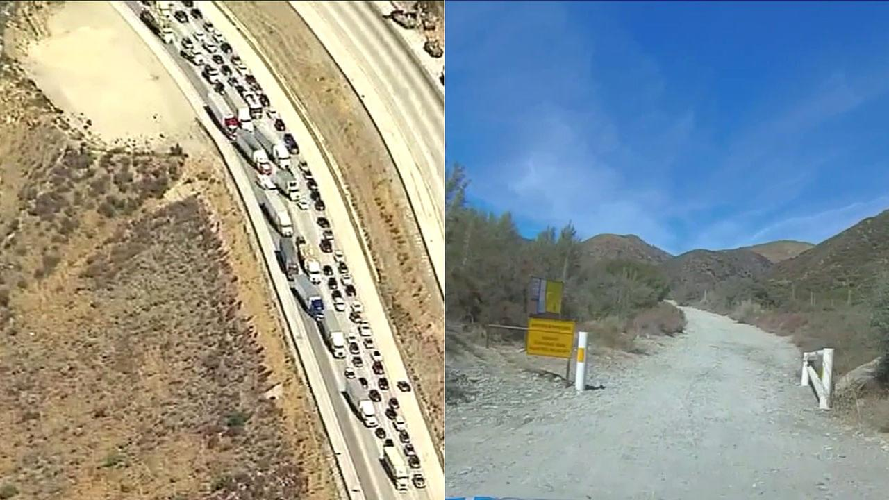 When the I-15 is backed up near the Cajon Pass, traffic apps sometimes provide detours onto narrow, dangerous dirt roads in Lytle Creek.