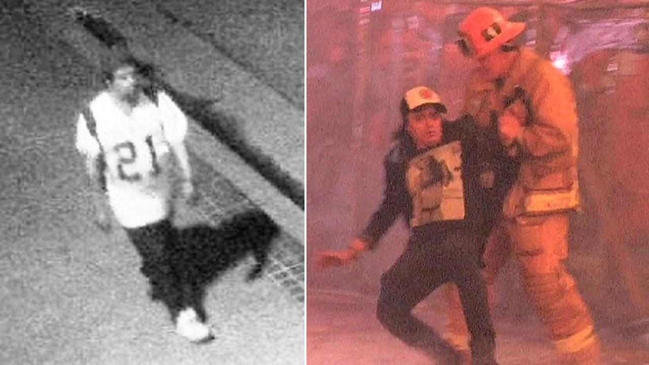 Authorities need the publics help identifying two potential witnesses of the massive downtown L.A. fire that erupted on Dec. 8, 2014.