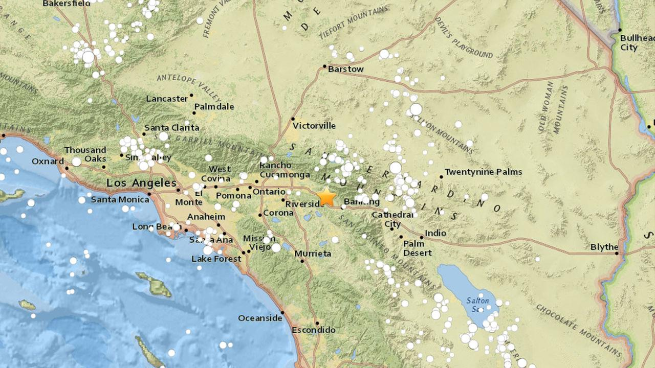 A preliminary-magnitude 3.5 earthquake shook the Yucaipa area on Monday, according to the U.S. Geological Survey.