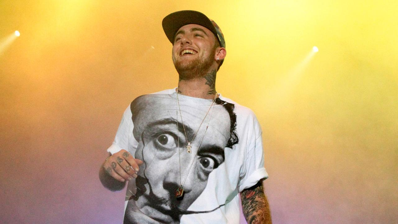 In this July 13, 2013, file photo, Rapper Mac Miller performs on his Space Migration Tour at Festival Pier in Philadelphia.