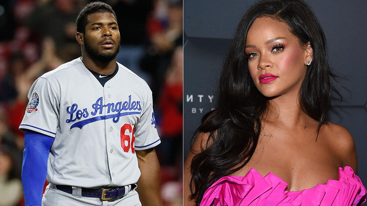 Police say the Los Angeles homes of Dodger Yasiel Puig and singer Rihanna were targeted by an organized burglary crew.