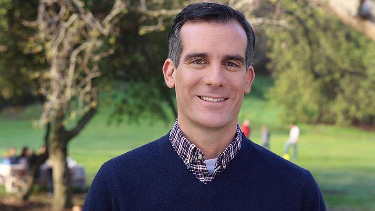 Los Angeles Mayor Eric Garcetti is shown in an undated file photo.