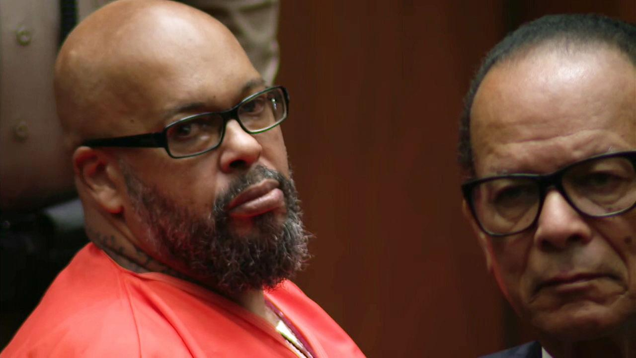 On Thursday, Oct. 4, 2018, Marion Hugh Suge Knight looks into a camera during his sentencing hearing in his murder case in Superior Court in Los Angeles.