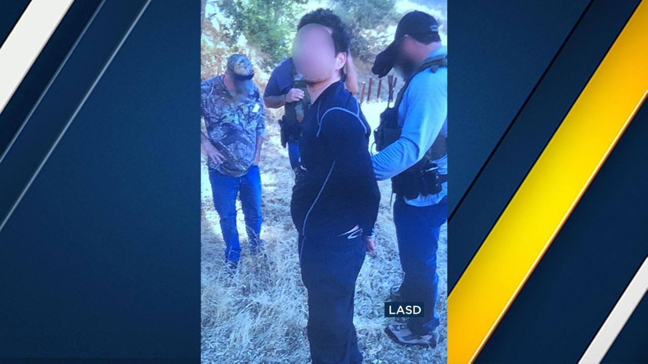 Anthony Rauda, 42, is being investigated for burglaries in the Calabasas and Malibu area. Officials blurred his face because witnesses may be asked to ID him in the future.