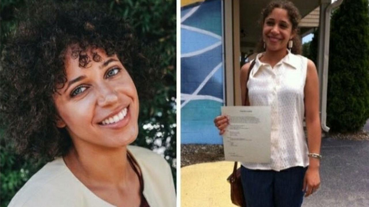 Sahara Eve Von Fisher, 22, is shown in two undated photos.