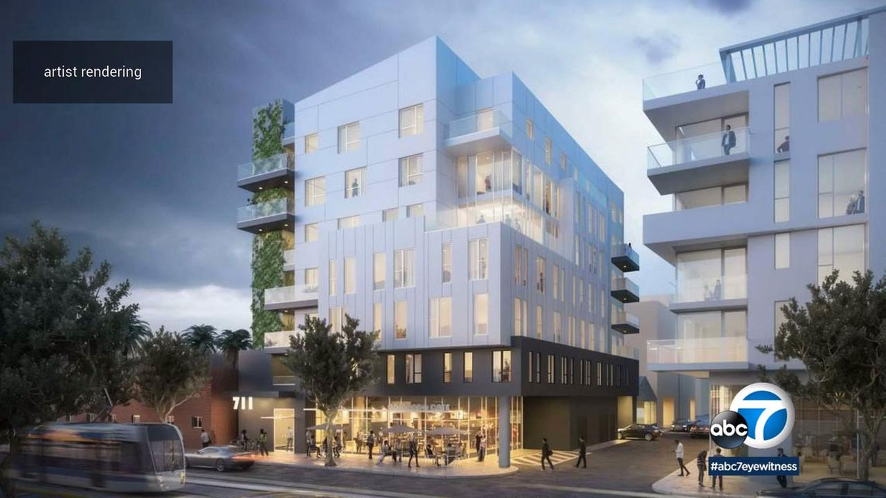 A seven-story building that will provide affordable apartments for seniors is being planned for a lot on Colorado Avenue in Santa Monica.