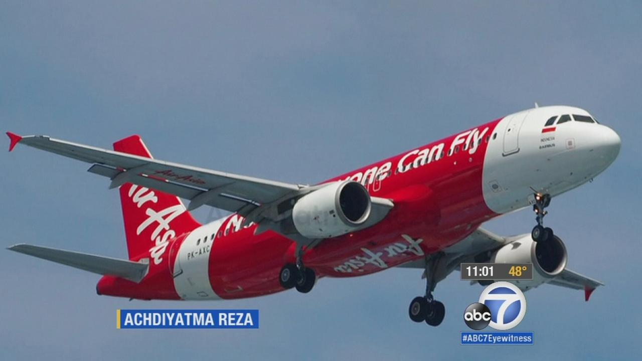 An image of AirAsia Flight QZ8501, which went missing on Saturday, Dec. 27, 2014, after losing contact with ground control, airline officials said.
