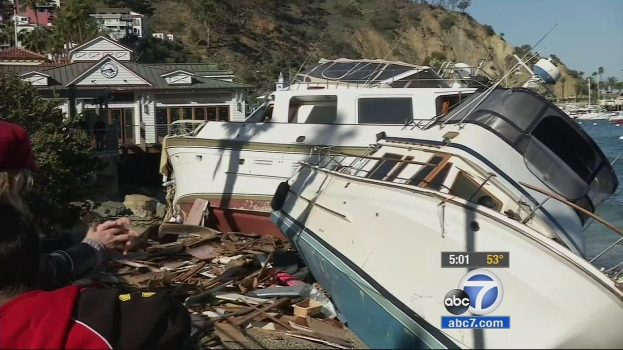 A Harbor Patrol officer and another person were killed overnight during windy conditions on Catalina Island, officials said.