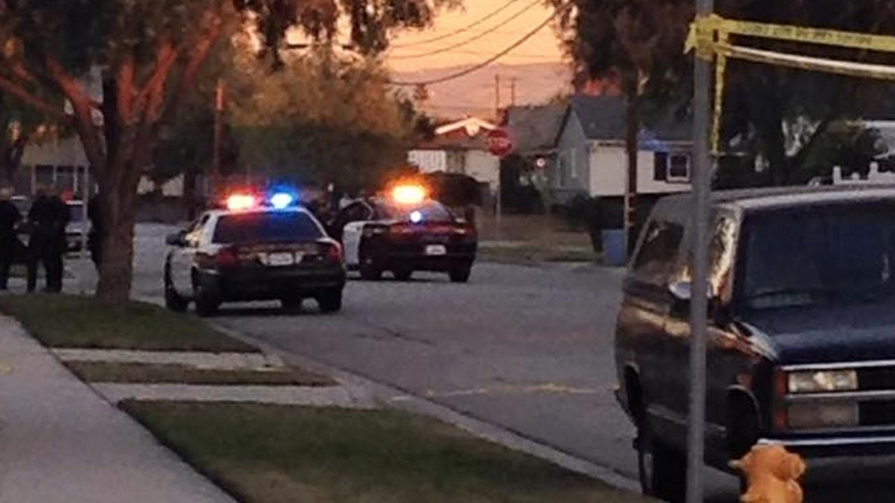 Buena Park police respond to the 7800 block of La Fiesta Drive following an argument between roommates Tuesday, Jan. 6, 2015.