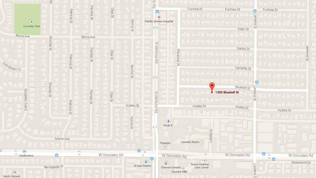 This Google Maps image shows the location where an intruder sexually molested a boy in his home in the 1300 block of Bluebell Street in Oxnard on Friday, Jan. 9, 2015.