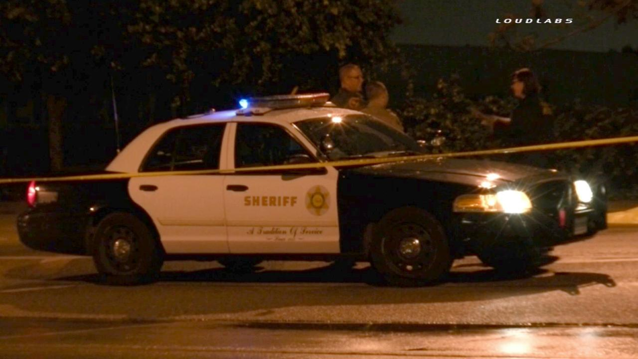 Los Angeles County sheriffs deputies investigate a fatal hit-and-run in South El Monte on Saturday, Jan. 10, 2015.