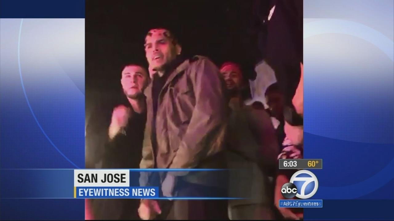 Five people were shot during a birthday celebration hosted by singer Chris Brown at Fiesta Nightclub in the 3800 block of Monterey Road in San Jose Sunday, Jan. 11, 2015.