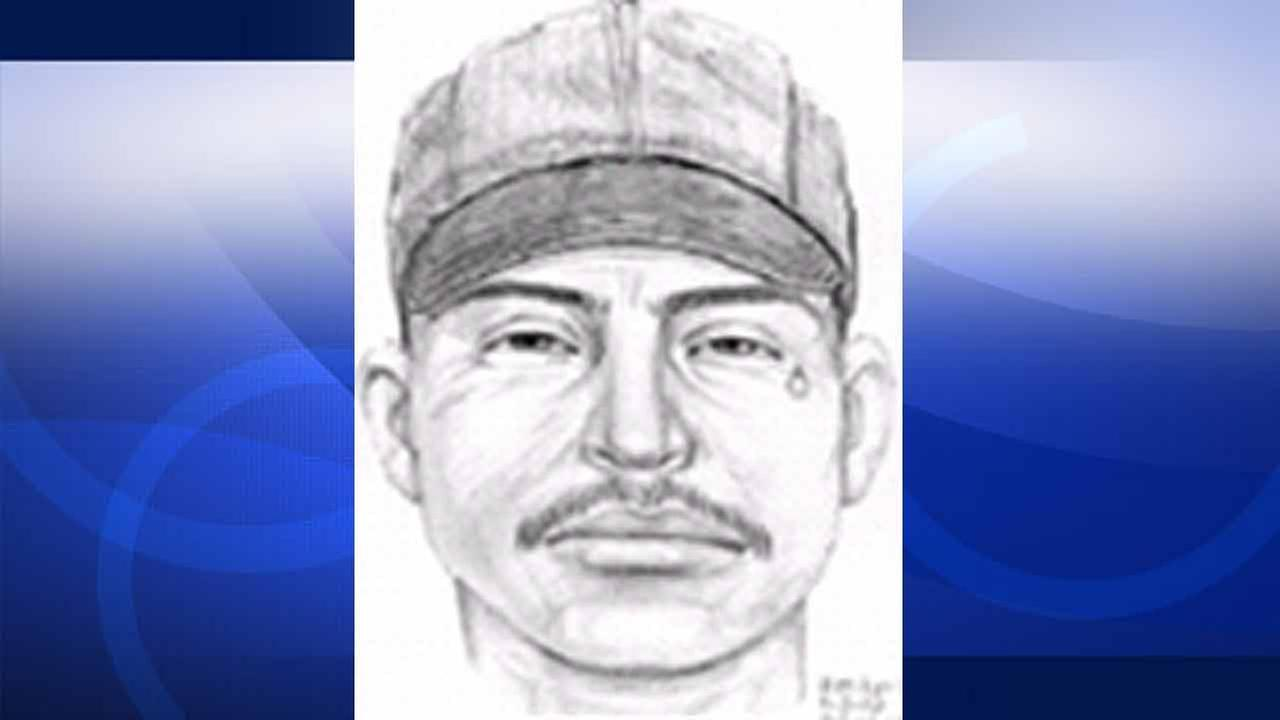 This composite sketch from Aug. 30, 2002 shows a suspect dubbed by police as the Tear Drop Rapist, who authorities say is linked to 35 sexual assaults in the South L.A. area.
