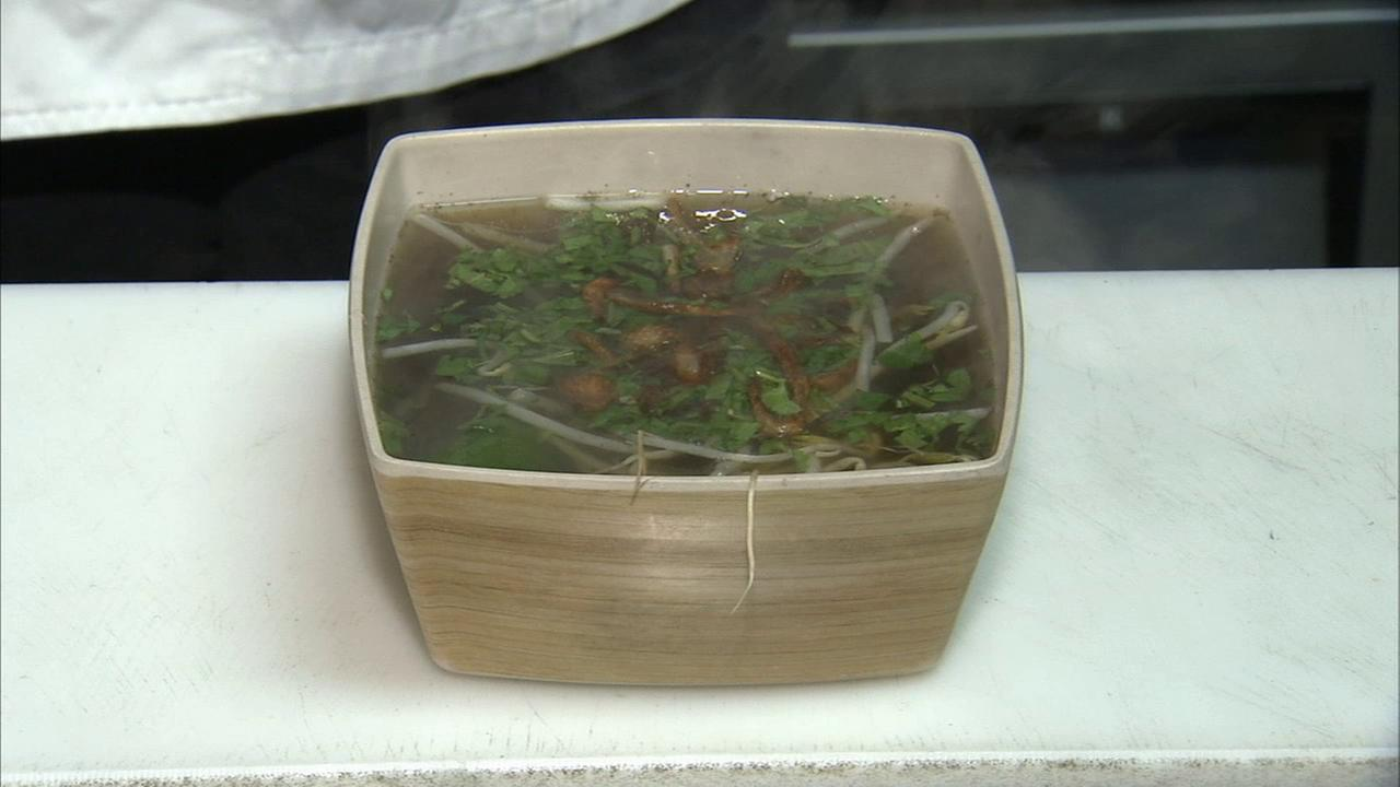 Beef pho broth from Asian Box executive chef Grace Nguyen