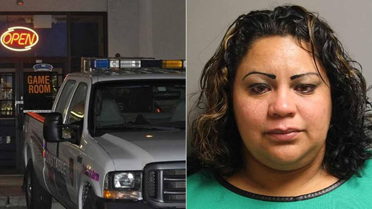 Xiomara Isaula, left, was arrested after she allegedly left her daughter in the car while visiting an illegal game room in Harris County, Texas.