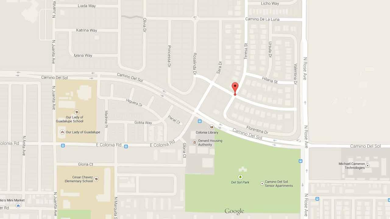 This Google Maps image shows the location of a stabbing in the 600 block of Teresa Street in Oxnard on Monday, Jan. 20, 2015.