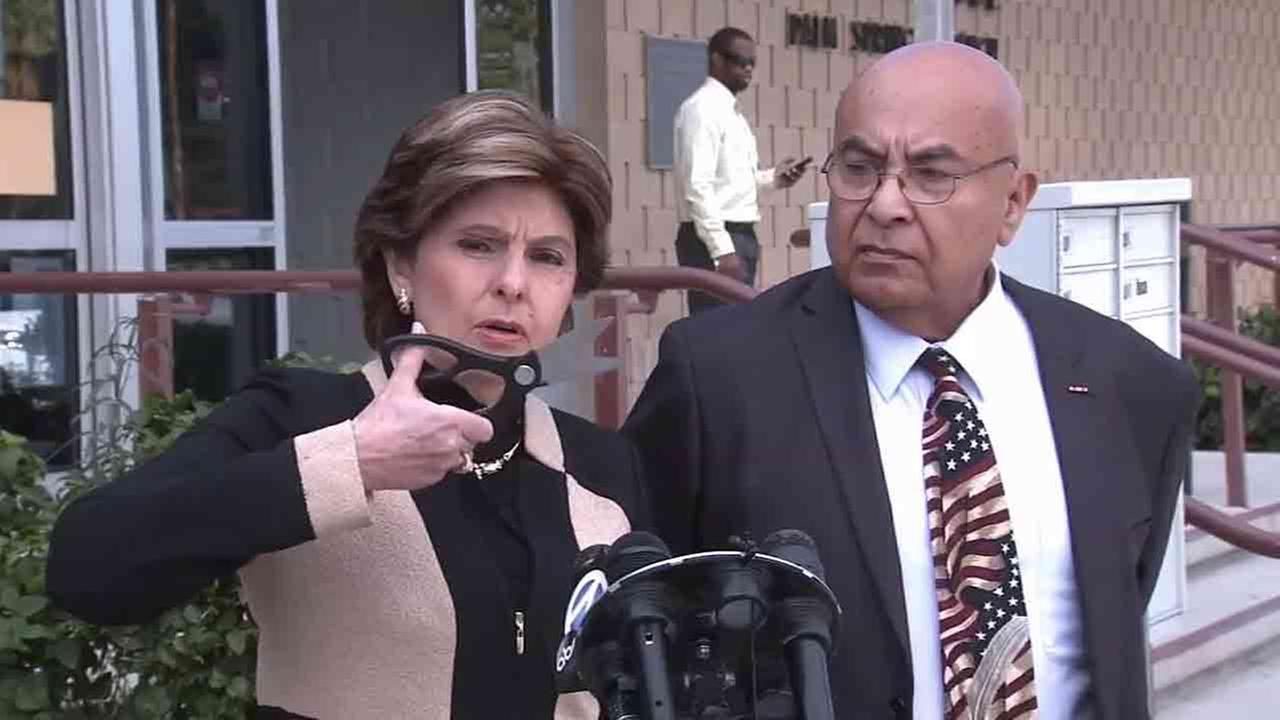 Celebrity attorney Gloria Allred holds a pair of heavy-duty scissors while explaining how Virginia Valdez tried to cut her clients penis.
