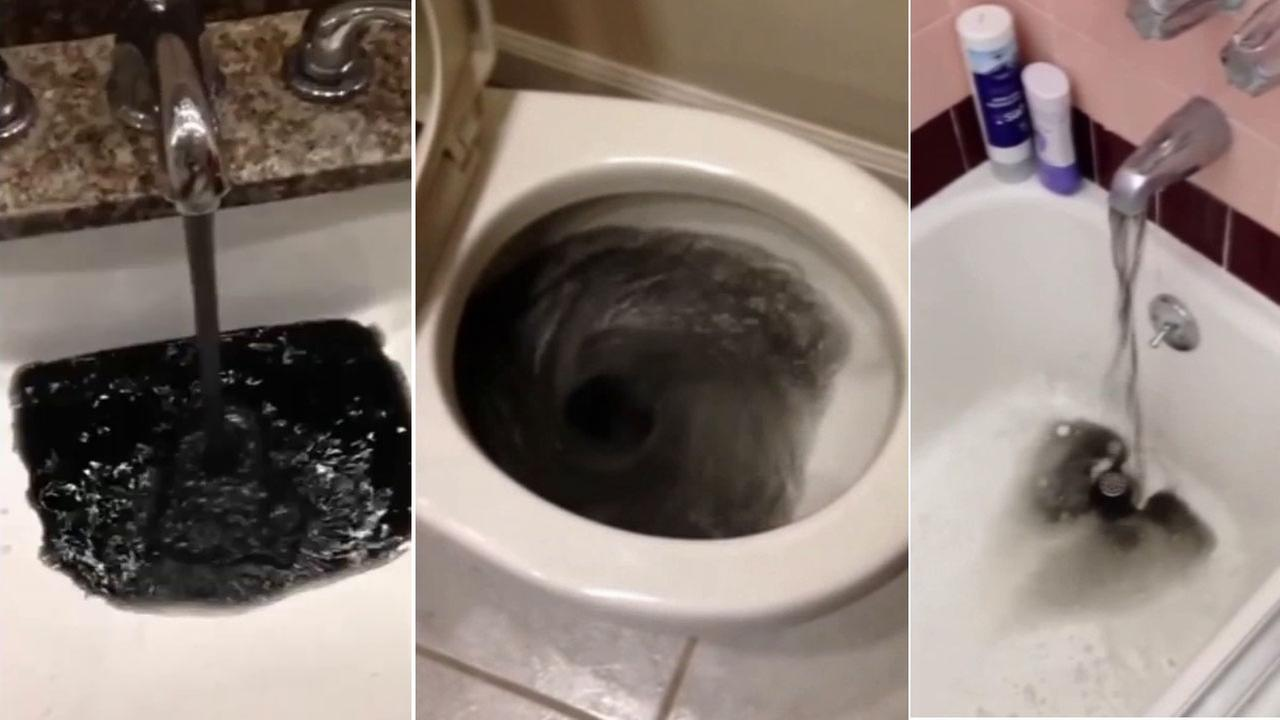 Black water coming out of faucets in SoCal neighborhood | abc30.com