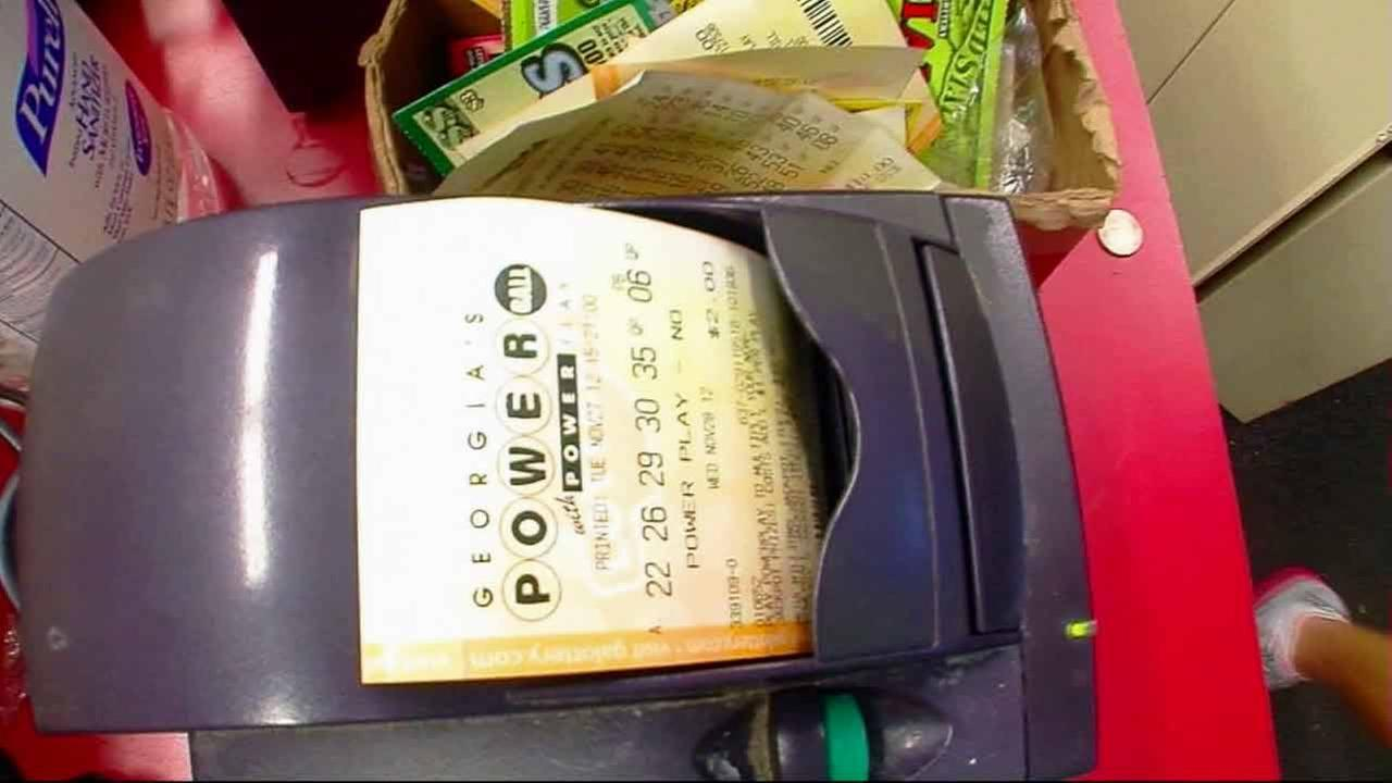 A Powerball ticket is shown in this undated file image.