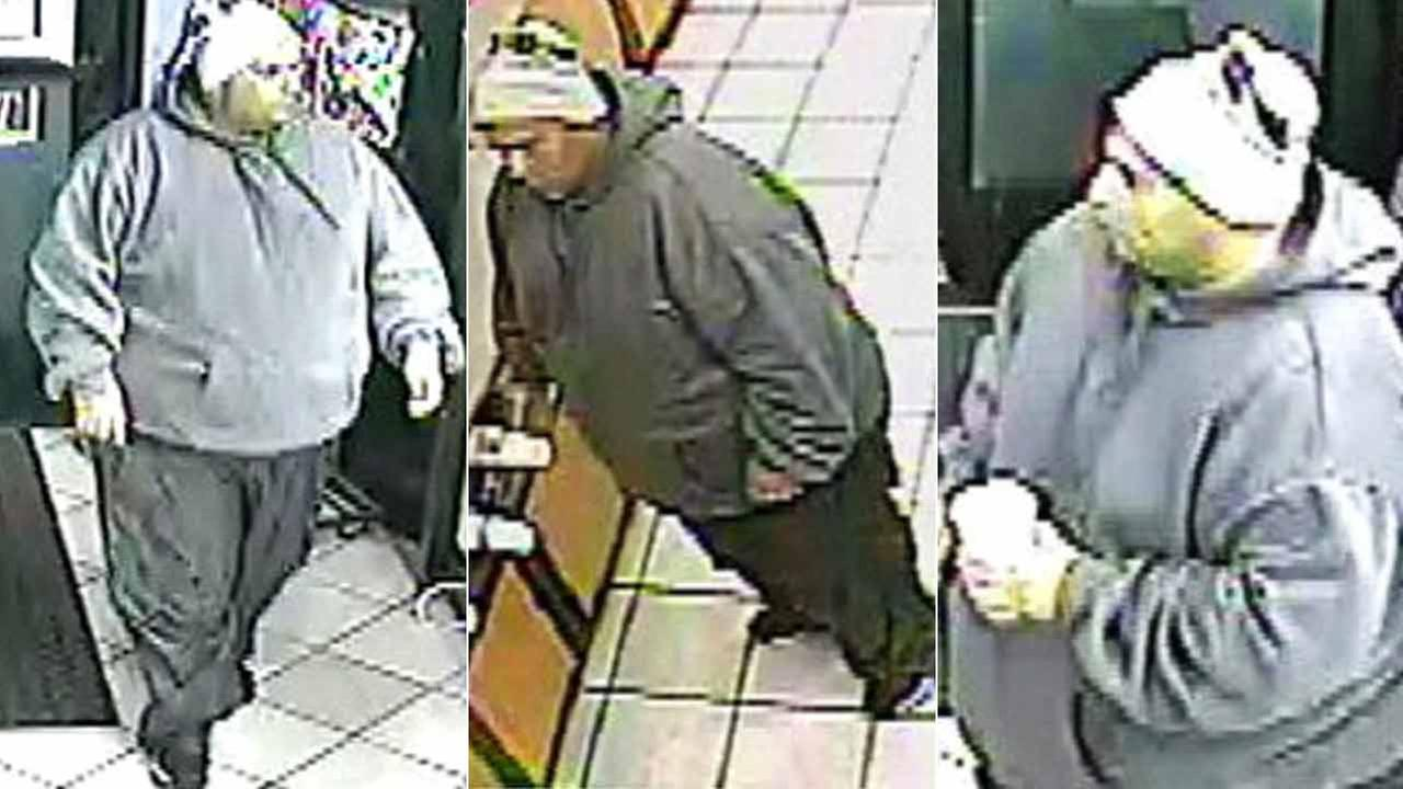 The Los Angeles Police Department released these surveillance images of the suspect wanted for a carjacking in Westchester.