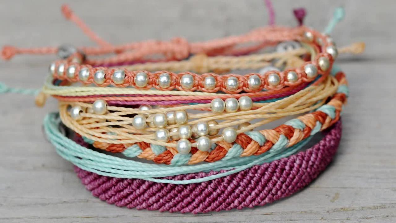 Pura Vida bracelets are shown in this undated file photo.