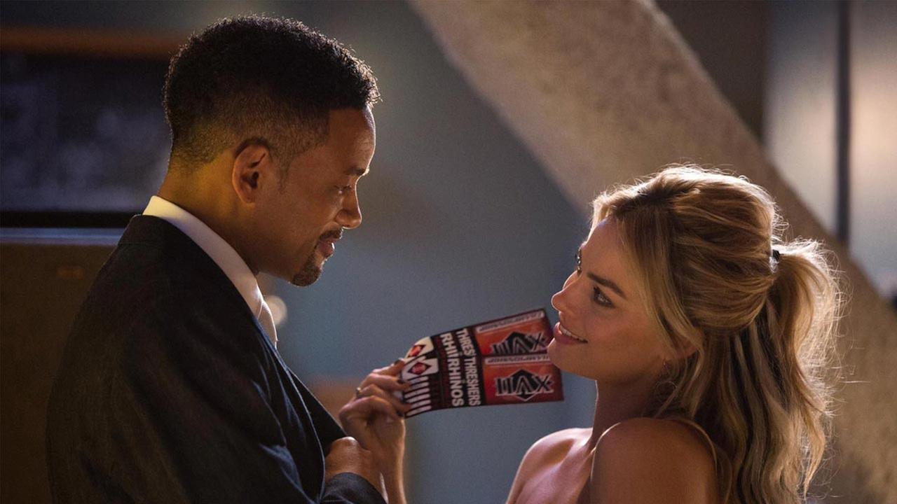 Will Smith and Margot Robbie star in the con-man caper Focus, which dethroned Fifty Shades of Grey at the box office.