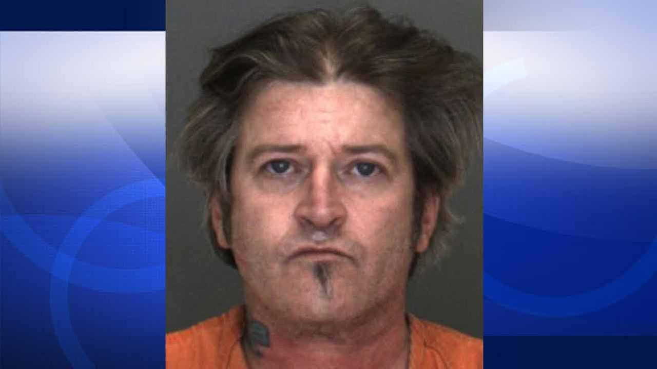 Buck Wylde Murphy, 49, is shown in a booking photo released by the San Bernardino County Sheriffs Department.
