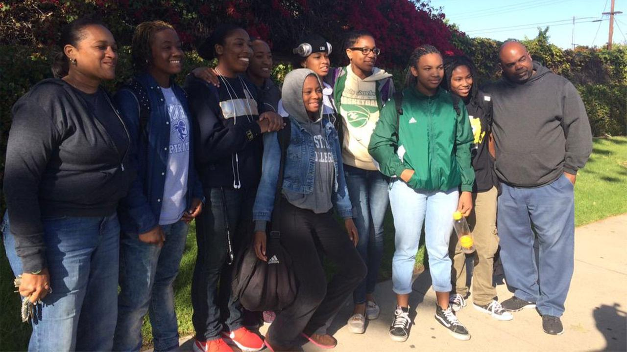 The Narbonne girls basketball team was in happy spirits Tuesday, March 3, 2015 after an appeals panel reversed its previous decision that stripped the team of its playoff victory.