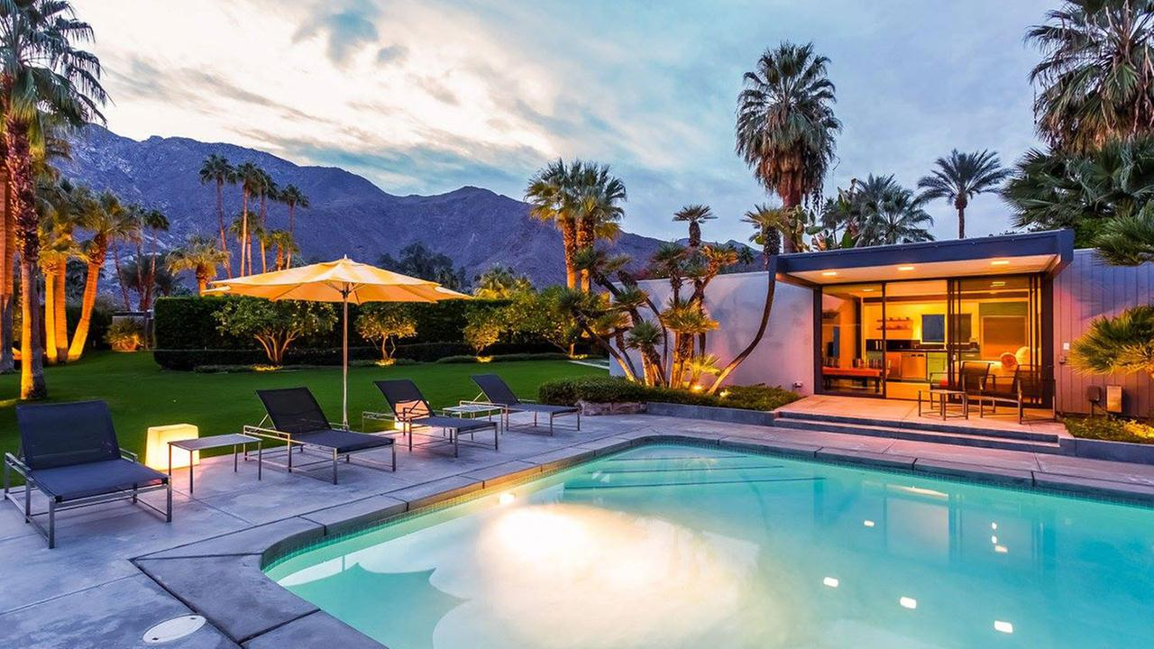 A view of the guest house at the Dinah Shore Palm Springs Estate.