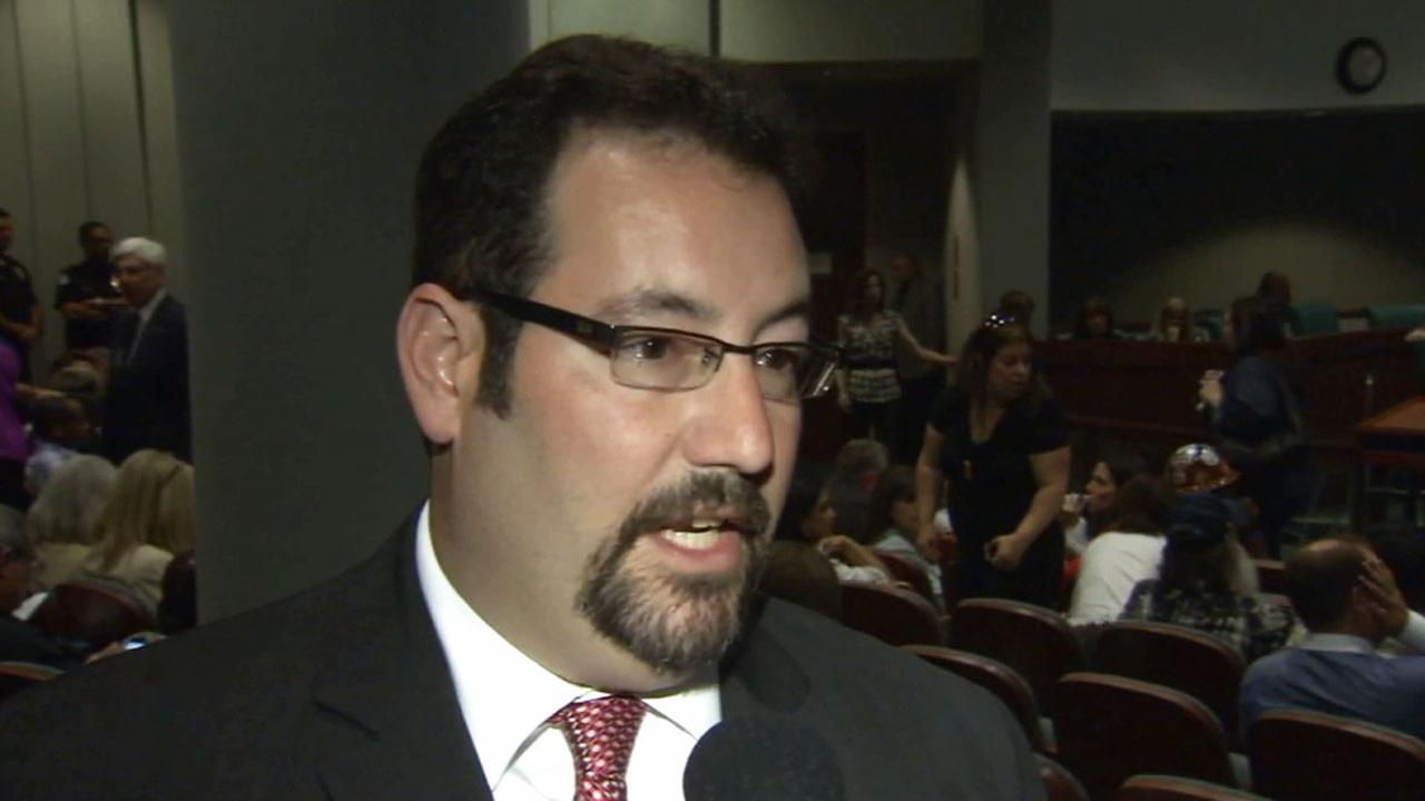 Brian Goldberg, the president of the Beverly Hills Unified School District board, was arrested on suspicion of battery against a female neighbor Monday, March 9, 2015.