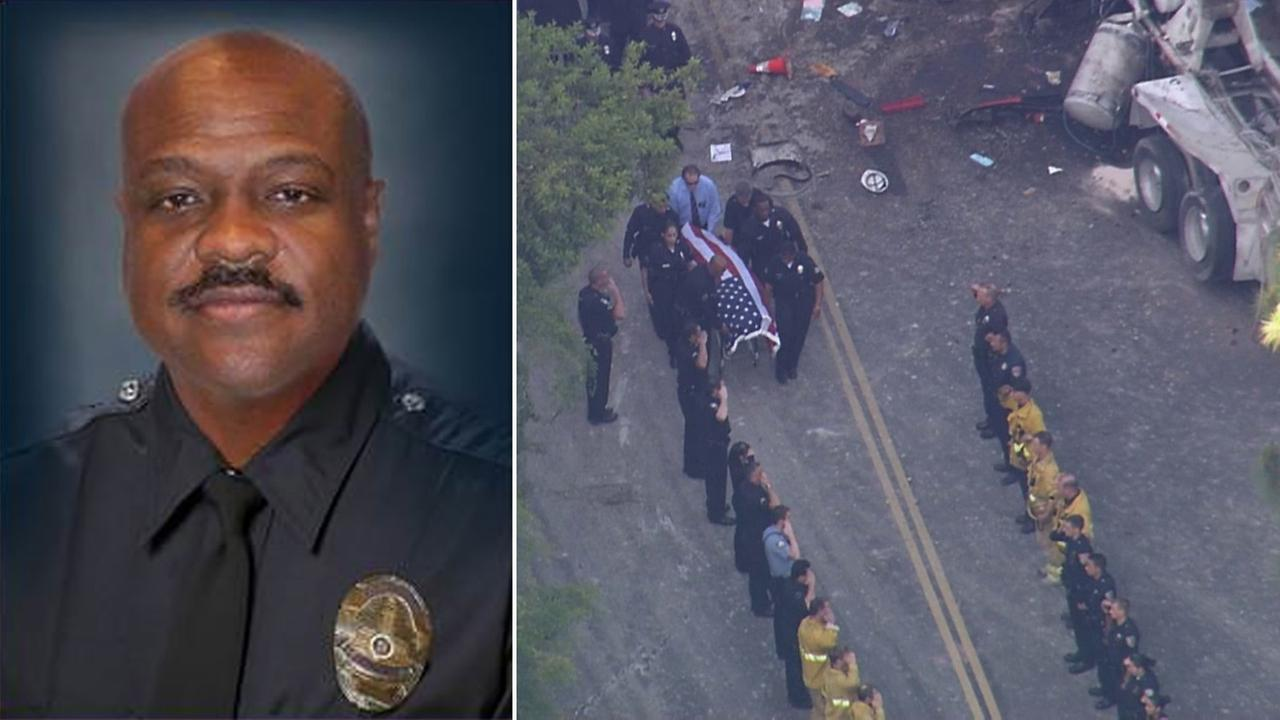 The LAPD detective killed in a cement truck accident on  Loma Vista Drive in Beverly Hills on Friday, May 9, 2014, was identified as Ernest L. Allen Sr.
