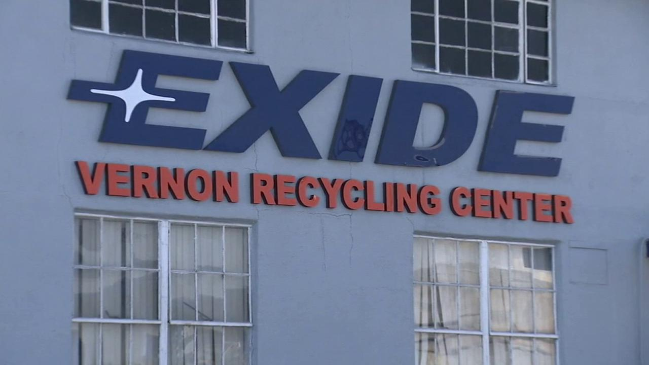 Exides recycling center in Vernon is shown in this undated file photo.