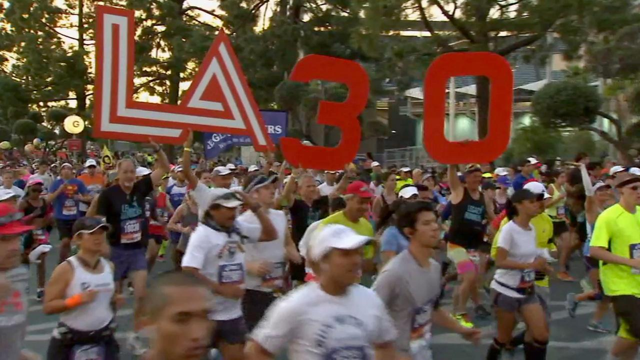 LA Marathon Runners Cross The Finish Line 185 Treated For Injuries