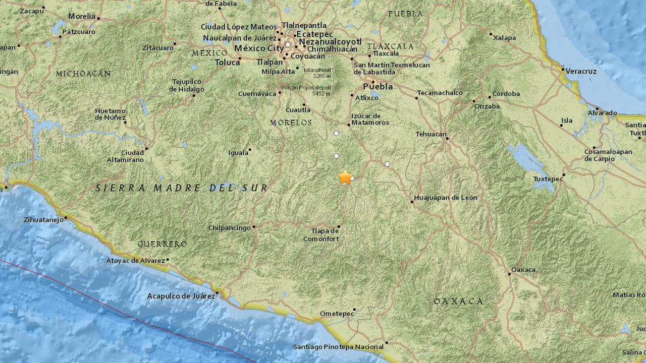 A 5.3-magnitude earthquake struck 16 miles southeast of Chiautla de Tapia, Mexico on Friday, March 20, 2015.