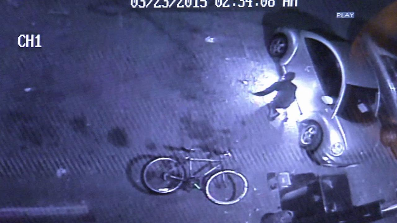 Police are searching for an arsonist who was caught on surveillance video setting a vehicle on fire in the 4700 block of W. Jefferson Boulevard in Jefferson Park.