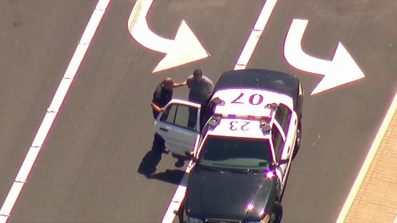 A man who led police on a chase near Disneyland was taken into custody on Friday, March 27, 2015.