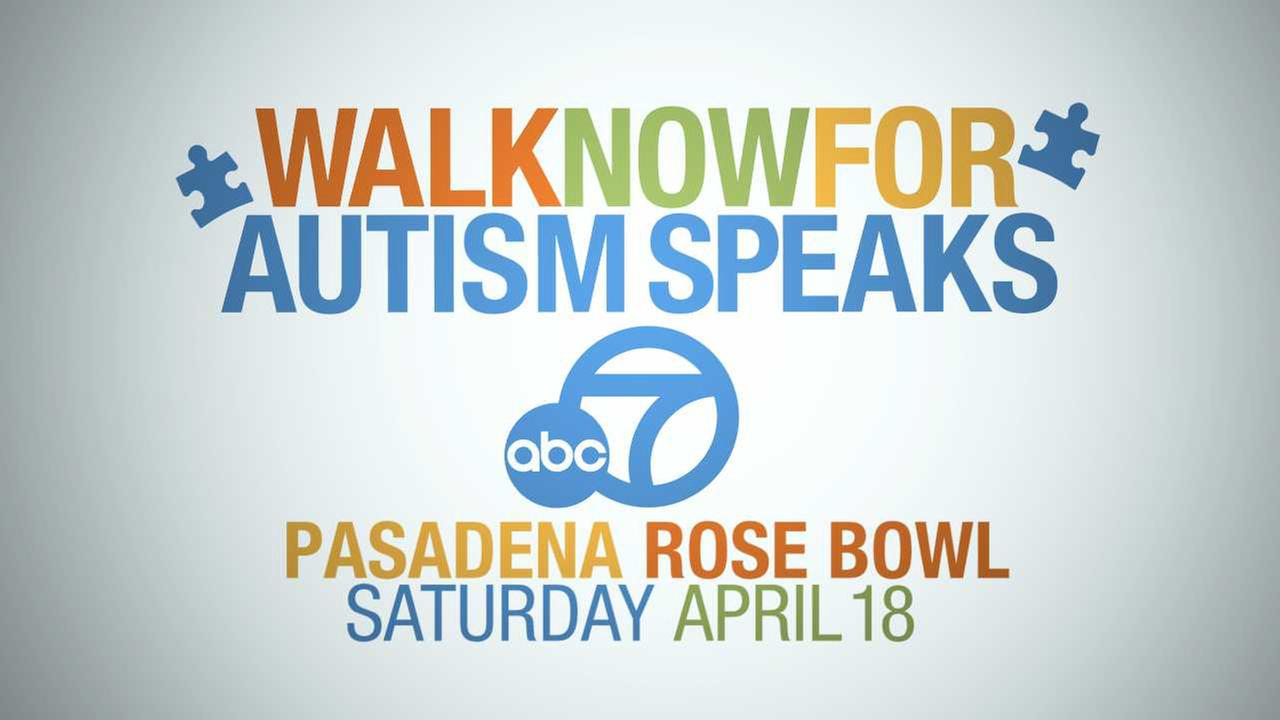 Walk Now for Autism Speaks on Saturday, April 18, at the Rose Bowl in Pasadena.