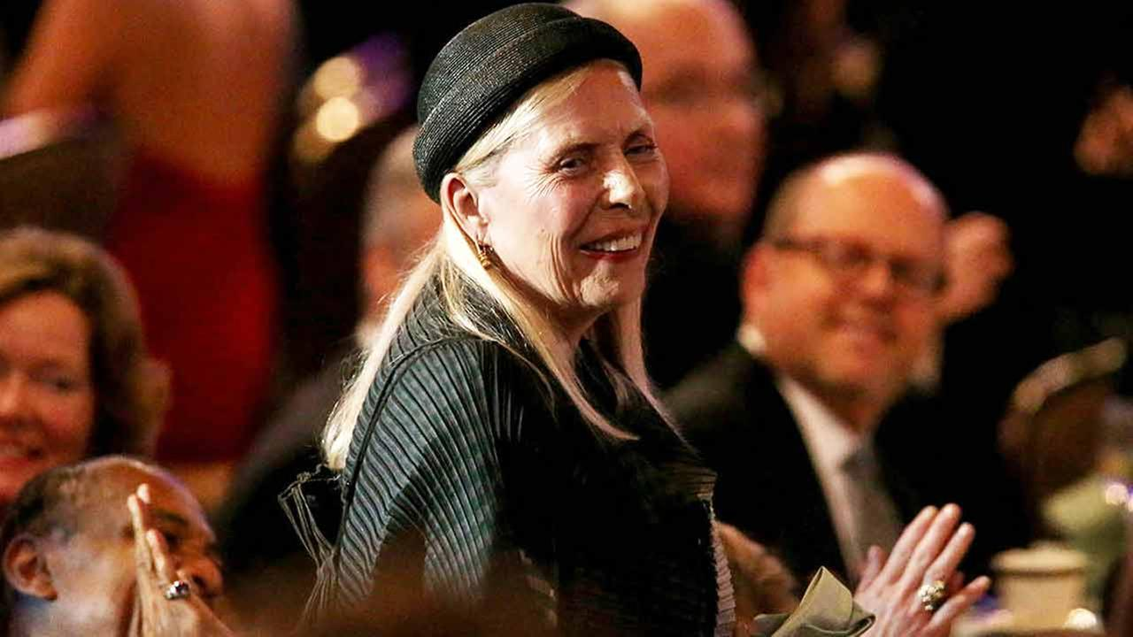 Joni Mitchell attends the 2015 Clive Davis Pre-Grammy Gala show at the Beverly Hilton Hotel on Feb. 7, 2015.