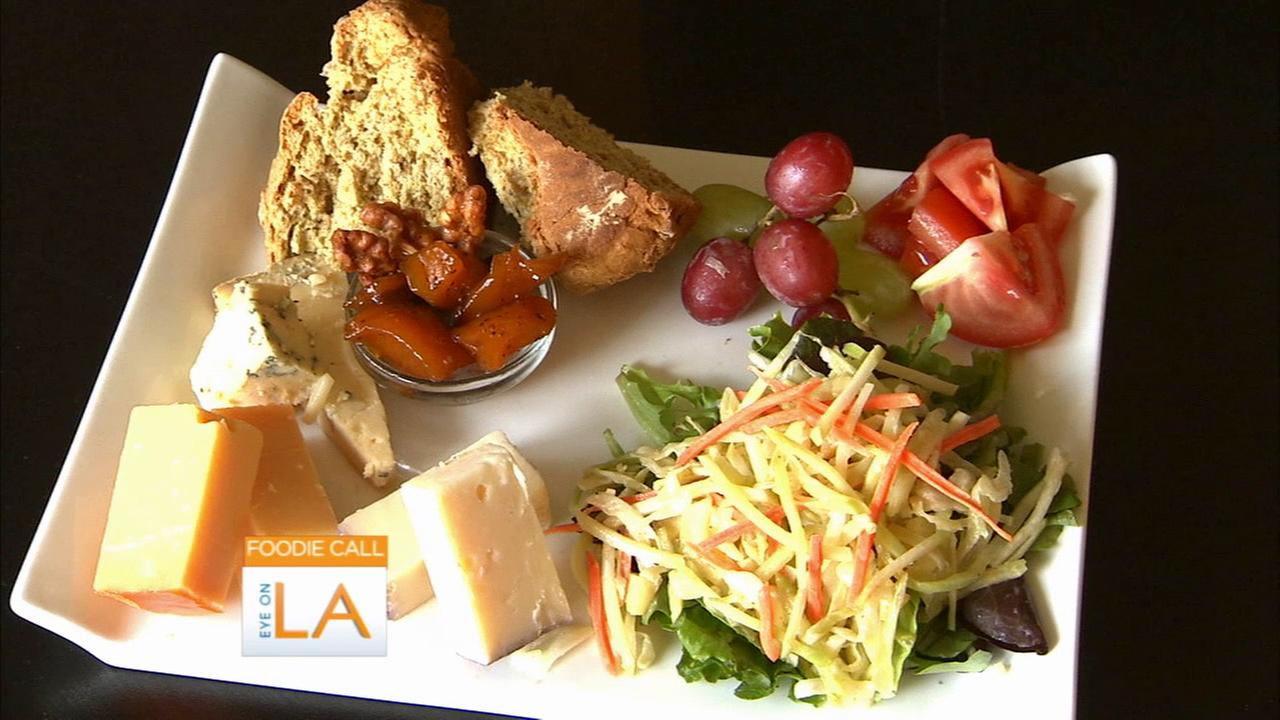 The Wilde Thistle Celtic Cafe in Culver City features special plates that feature cheese, Irish bread, fruit and a salad.