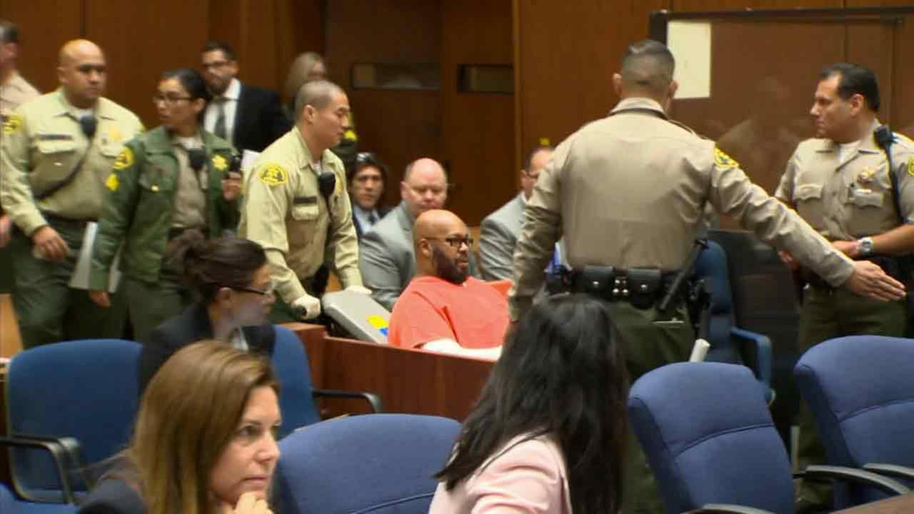 Suge Knight appears in court on Wednesday, April 8, 2015.