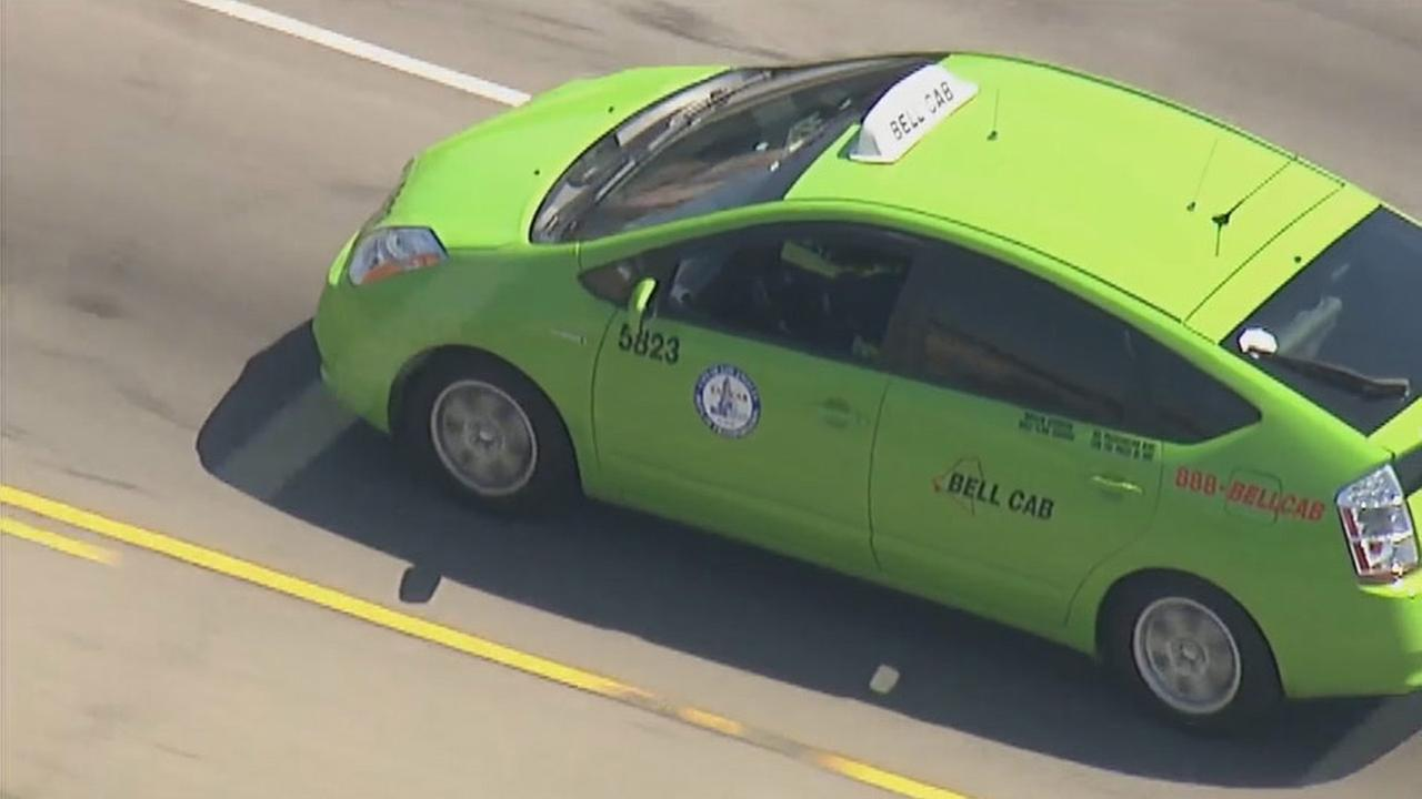 A carjacking suspect led police on a slow-speed chase in the South Los Angeles area on Friday, April 10, 2015.