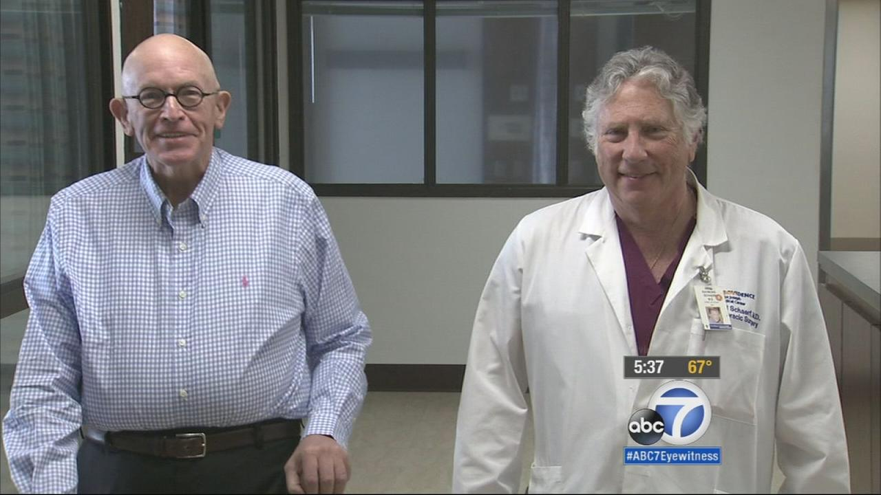 A new minimally invasive heart procedure using a device called AngioVac allows doctors to vacuum mass clots out of patients hearts.