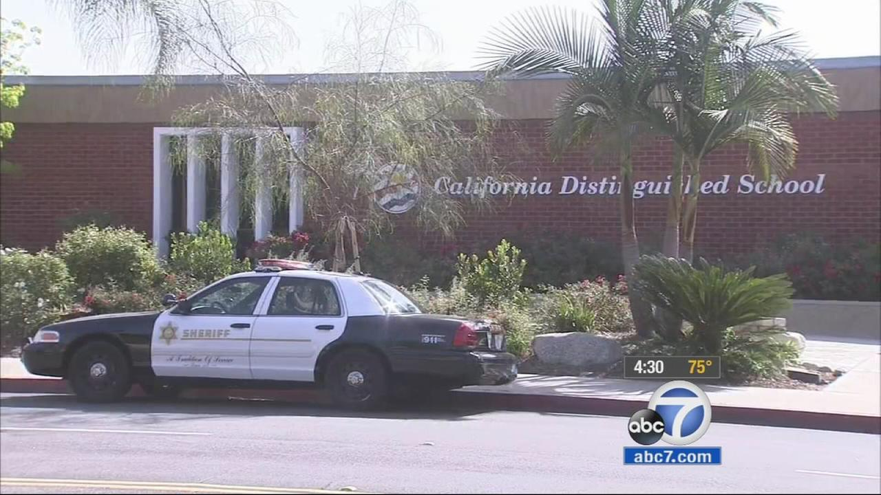 Los Angeles County sheriffs deputies are investigating after a death threat was made against a student at Lone Hill Middle School in San Dimas on Instagram.