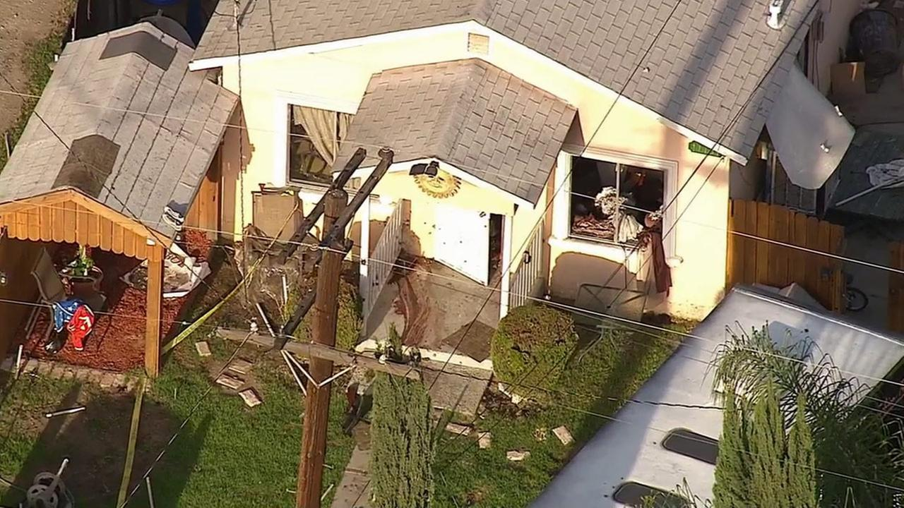 A Montclair home where a barricade and deputy-involved shooting took place on Wednesday, April 15, 2015.