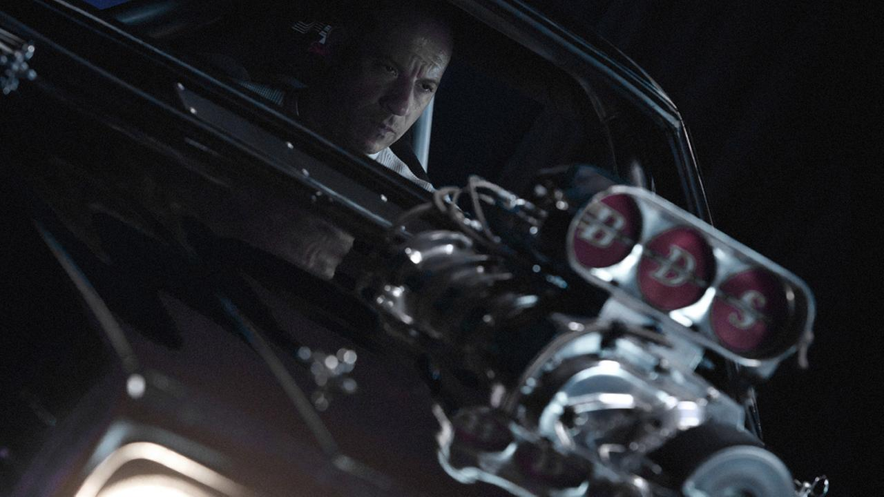Actor Vin Diesel is shown in a scene from Furious 7, the latest movie from the Fast and Furious franchise.