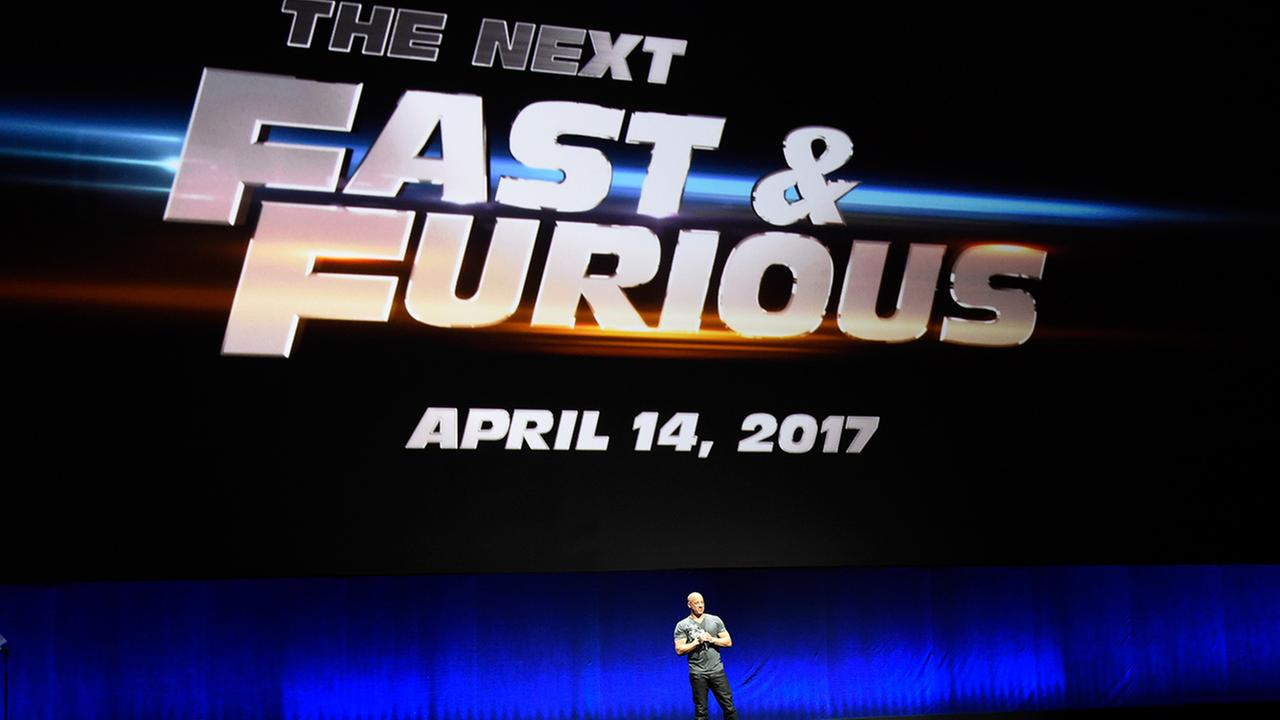 Vin Diesel announces a forthcoming eighth installment in the The Fast and the Furious movie franchise during the Universal Pictures presentation at CinemaCon 2015 at Caesars Palace on Thursday, April 23, 2015, in Las Vegas.