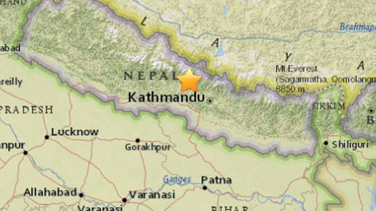 A 7.5-magnitude earthquake struck near Kathmandu, the capital of Nepal, on Friday, April 24, 2015.