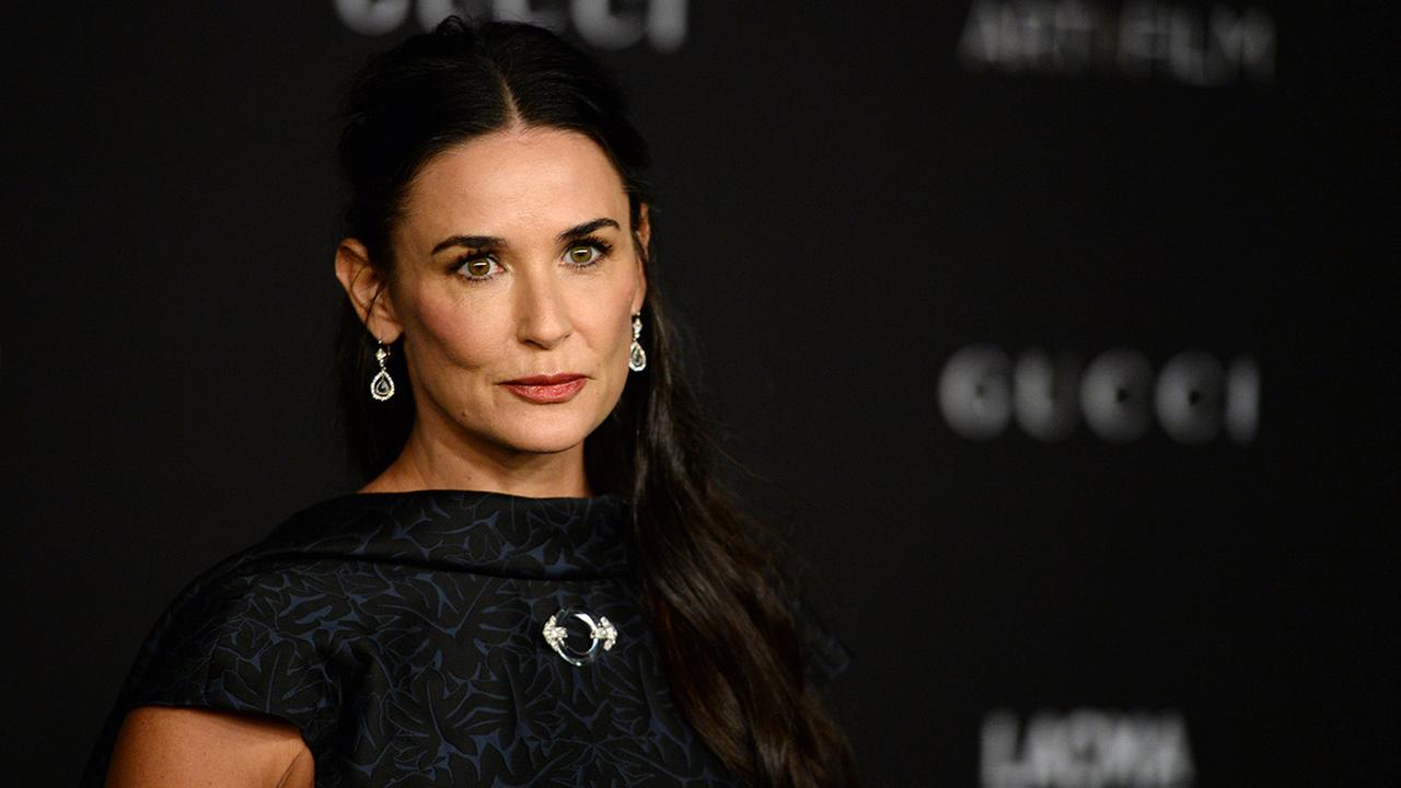 Demi Moore arrives at the LACMA Art + Film Gala at LACMA on Saturday, Nov. 1, 2014, in Los Angeles.