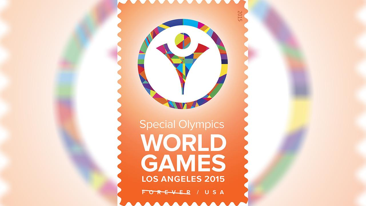 The U.S. Postal Service issued a new Forever stamp in honor of the 2015 Special Olympics World Games.