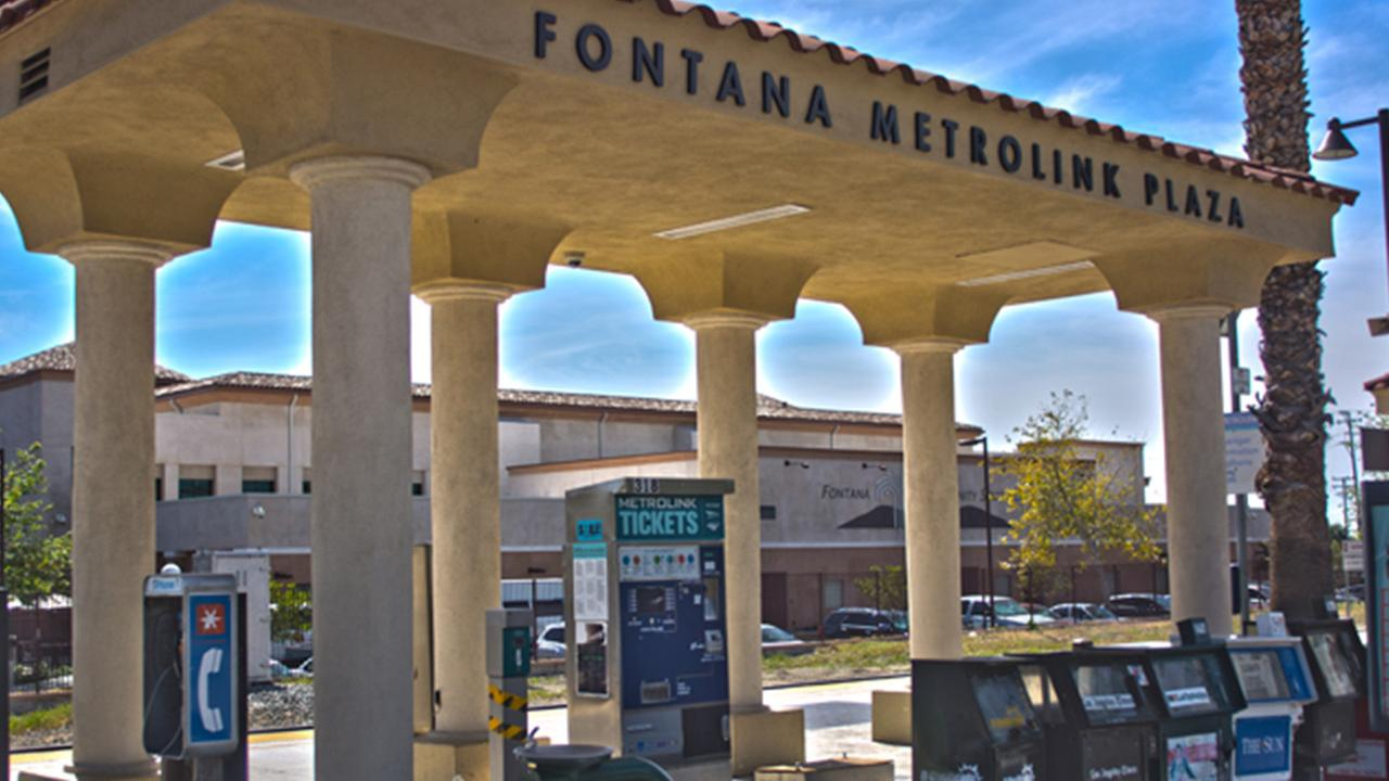 The Fontana Metrolink station is shown in this undated file photo.